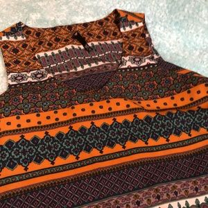 Tribal Patterned Top